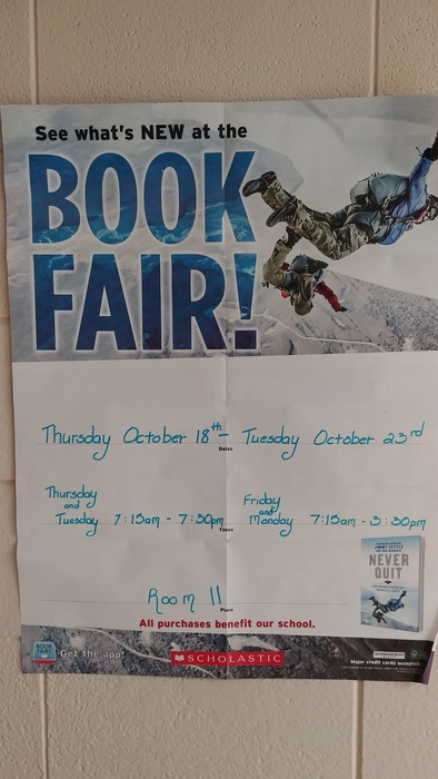 Book Fair Poster (October)