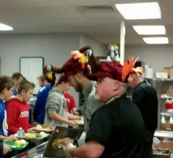 "Special ""lunch ladies"" at the High School on Wednesday for the Thanksgiving Feast."