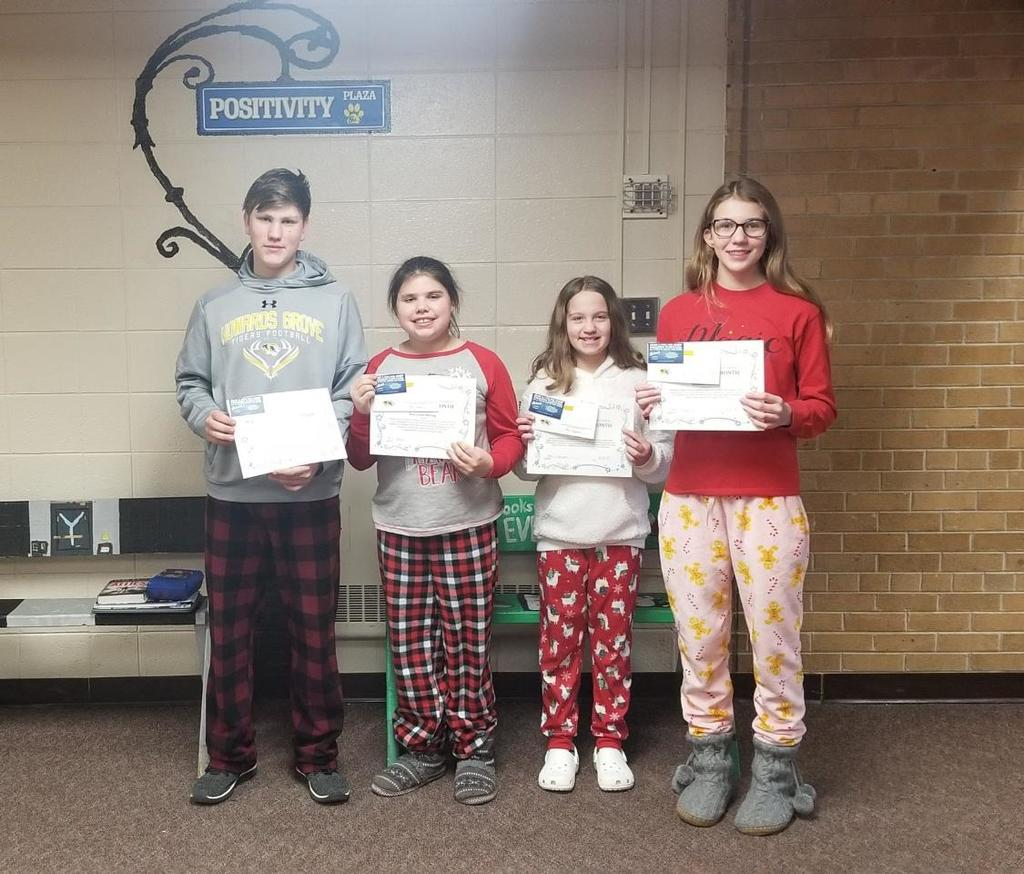 Dec. 2019 Students of the Month